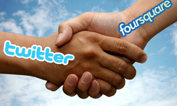 foursquare i twitter