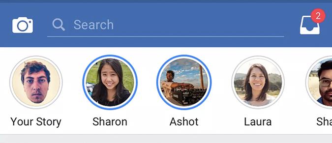 Plavi krugovi označavaju nove priče koje još uvek niste pregledali, a tu je i odeljak za privatne poruke tj. privatno razmenjen sadržaj.