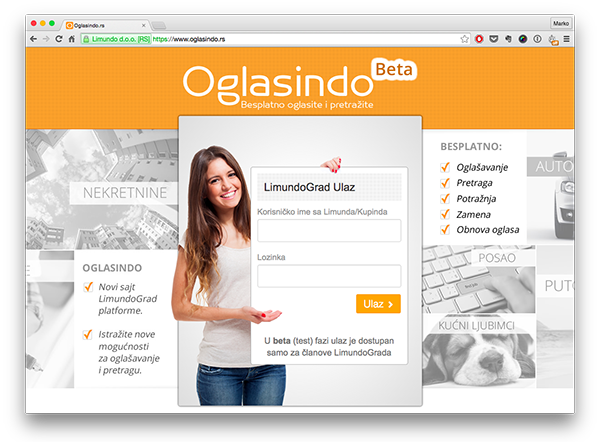 Od danas, više od 680.000 'stanovnika' LimundoGrada može pristupiti platformi Oglasindo.rs