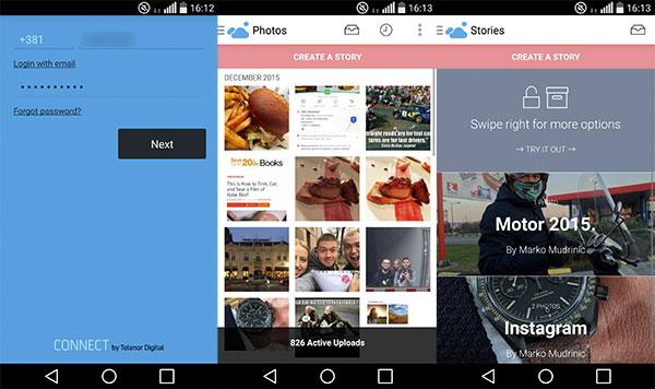 Capture nudi mogućnost postavljanja fotografija direktno sa vašegtelefona, koje kasnije možete organizovati i u posebne 'Priče' (Story).
