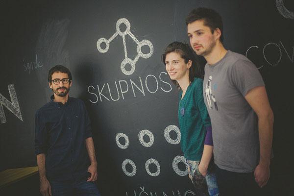 Luka Piškorič, Eva Perčič i Marko Orel, osnivači Poligona (Foto: David Lotrič)