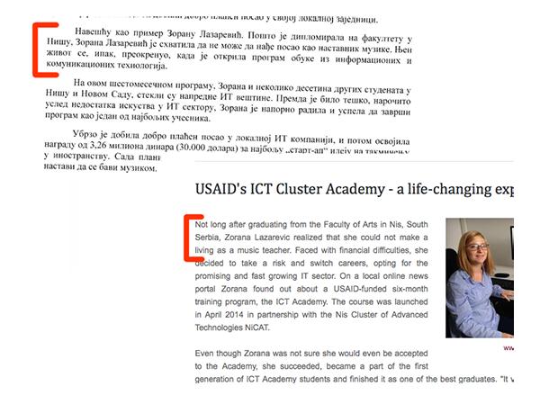 Ozbiljan izveštaj ili primer podataka koji su izvučeni na brzinu? Sličnosti sa izveštajem USAID-a itekako su primetne.